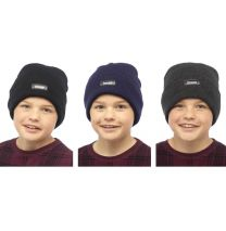 Childrens Boys Girls Heatguard Thermal Genuine Thinsulate GL232 Beanie Hat with Turn Up