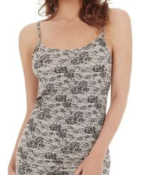 Womens Charnos Second Skin Thermalwear Strappy Cami Top 58430 Black Print