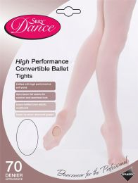 Girls Silky Dance High Performance Convertible Ballet Tights Theatrical Pink