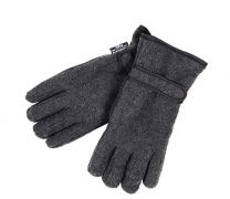 Mens Thermal Thinsulate Fleece Winter Gloves with Palm Grips - Charcoal or Black GL127