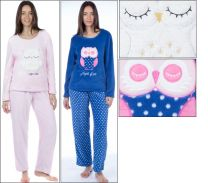 Womens Selena Secrets Soft Coral Soft Fleece Pyjamas Sleep Under The Stars Owl Unicorn Llama