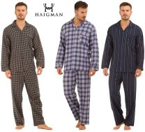 Haigman Mens Brushed 100% Cotton 7493 Pyjamas