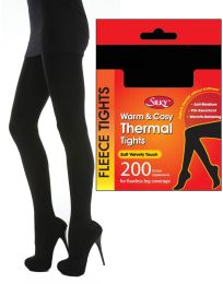 Women's Silky 200 Denier Soft Warm & Cosy Fleece Thermal Tights Various Colours