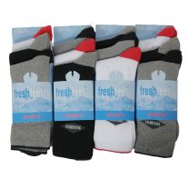 12 Pairs Fresh Feel Cotton Sport Socks M10763 Mix