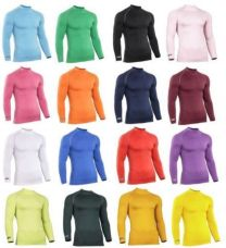 Mens Gents Rhino Base Layer Top Adult Long Sleeve Sports Compression Top RH001