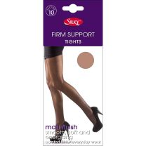 Silky Firm Support Tights Factor 10 With Reinforced Body and Toe 1 or 3 Pack