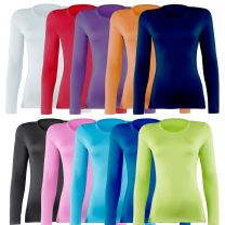 Ladies Womens Rhino RH003 Compression Baselayer Long Sleeve Sports Top