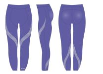 Shock Absorber Sports Activewear Full Length Leggings S066B Waterfall Purple Geometric Print or Black