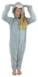 Childrens Soft Fleece Novelty Animal All in One Onesies with Hood