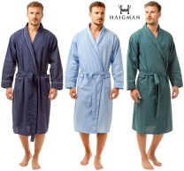 Mens Haigman 7390 Poly Cotton Dressing Gown Wrap