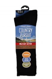 2 Pairs Gents Country Pursuit Military Action Cushion Foot Outdoor Socks