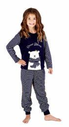 Girls Selena Girl Polar Bear Pyjamas KN191 Grey or Navy