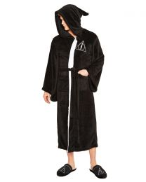 Harry Potter Deathly Hallows Fleece Bathrobe