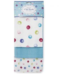 Cooksmart 3 Pack Spotty Dotty Tea Towels