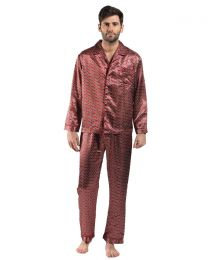 Harvey James Satin Pyjamas - Red