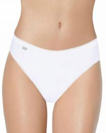 Playtex 3 Pack Cotton High Leg Brief - White