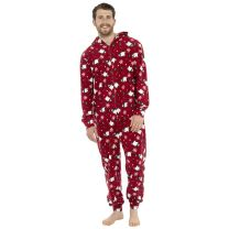 Mens Fleece Christmas Polar Bear Onesie