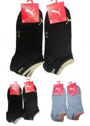 4 Pairs Puma Womens Sparkly Lurex Sneaker Trainer Sports Socks