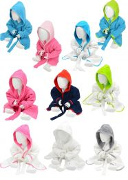 AR022 ARTG Babiezz 100% Cotton Baby Babies Toddler Soft Hooded Terry Bathrobe