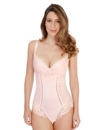 Lepel Fiore Plunge Lace Body - Pale Pink