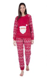 Ladies Christmas Santa Fleece Pyjamas