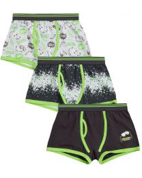 Boys 3 Pack Pixel Game Boxers