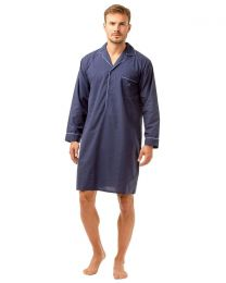 Haigman Poly/Cotton Nightshirt - Navy