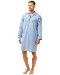 Haigman Poly/Cotton Nightshirt - Pale Blue