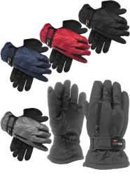Mens and Ladies thermal sports gloves with gripper palm and zip