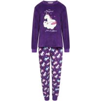 Girls Selena Girl Unicorn Pyjamas KN152 Purple