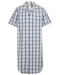 Walker Reid Classic Check Short Sleeve Nightshirt
