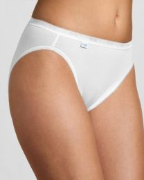 Sloggi 4 Pack Basic+ Tai Brief - White