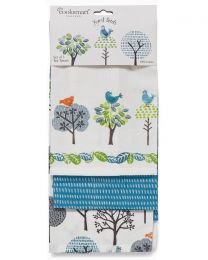 Cooksmart 3 Pack Forest Birds Tea Towels