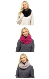 Womens Foxbury Luxury Chenille Snood Scarf Raspberry Pink , Black or Mink