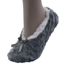 Foxbury Sherpa Lined Slippers SK456A Grey or Navy or Red swirl
