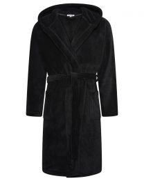 Loungeable Fleece Dressing Gown - Black