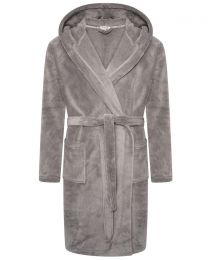 Loungeable Fleece Dressing Gown - Grey