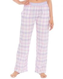 Forever Dreaming Woven Check Lounge Pants - Lilac