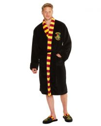 Mens Harry Potter Hogwarts Fleece Bathrobe