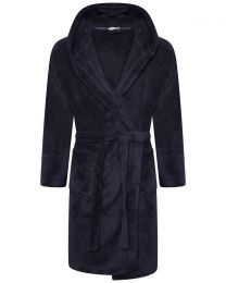 Loungeable Fleece Dressing Gown - Navy