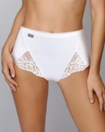 Playtex 3 Pack Cotton Lace Maxi Brief - White