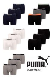 Mens 3 Pack Puma Sueded Cotton Boxer Shorts with  Logo Waist Band