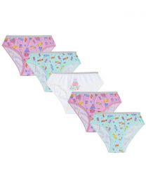 5 Pairs Girls Sweets Cotton Knickers