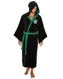 Mens Harry Potter Slytherin Fleece Bathrobe