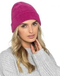 Foxbury Thermal Lined Chenille Hat - Berry