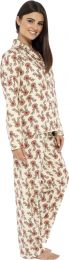 Ladies Button Through Reindeer Pyjamas