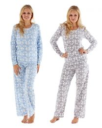 Ladies Winter Fleece Pattern Pyjama Set