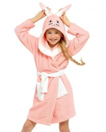 Tom Franks Kids Pink Bunny Towelling Dressing Gown