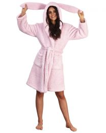 Loungeable Pink Bunny Sherpa Robe