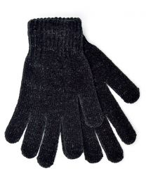Foxbury Thermal Lined Chenille Gloves - Black